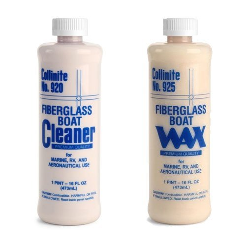 Collinite 920 Fiberglass Boat Cleaner 925 Fiberglass Boat Wax Combo Pack