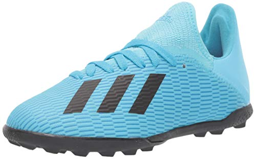 adidas Unisex X 19.3 Turf Soccer Shoe, Bright Cyan/Black/Shock Pink, 4.5 M US Big Kid (The Best Soccer Shoes Ever)