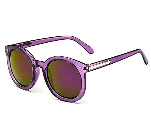 Sol Marco Película Reflexivas Youkara de de Transparentes del Color Gafas Coloridas del Gafas la Sol de YwYnxRrE