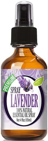 Healing Solutions Lavender Spray (Huge 4 OZ Bottle) Contains Lavender Essential Oil - Perfect Room Air Freshener & Odor Eliminator