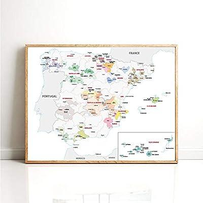 Mapa póster y grabados sala de estar pared arte lienzo pintura ...