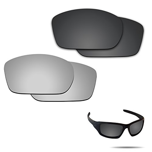 Fiskr Anti-saltwater Polarized Replacement Lenses for Oakley Valve 2 Pairs Pack