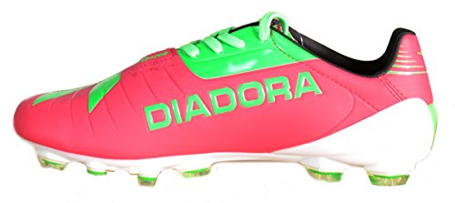 Diadora DD-NA GLX 14 Peau Chaussures de football Fuchsia Vert 158455