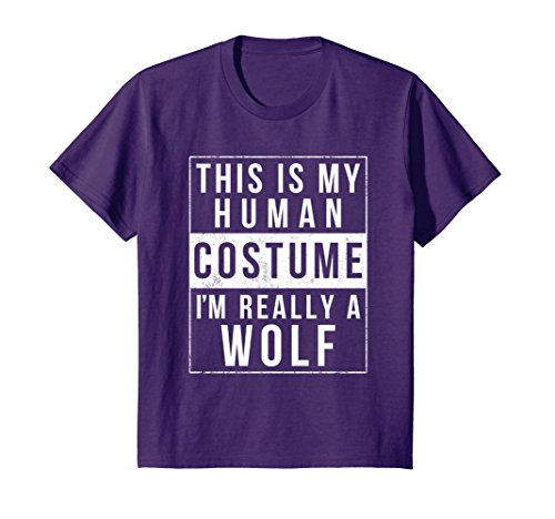 Kids Wolf Halloween Costume Shirt Funny Easy for Kids Men Women 10 (Funny Male Group Costume Ideas)