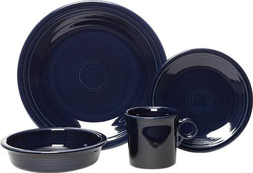 - Fiesta 4-Piece Place Setting, Cobalt