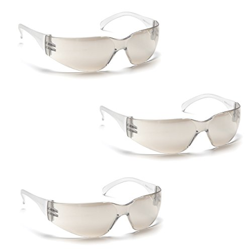 Pyramex Safety Intruder Eyewear (3 Pair Pack) (Indoor/Outdoor Mirror)