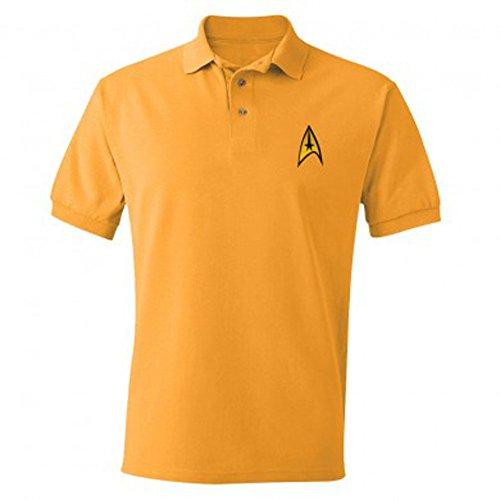 Star Trek Starfleet Uniform Adult Command Gold Polo Shirt (Adult -