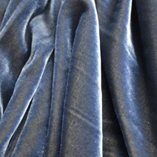 Blue and Gold Silk Fabric: Amazon.com