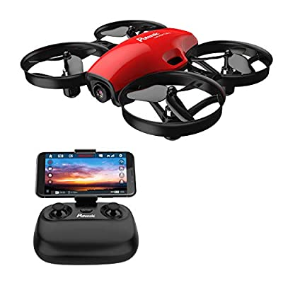 Potensic FPV Drone with Camera WiFi 720P, RC Quadcopter 2.4G 6 Axis-Remote Control with Altitude Hold, Headless, Route Setting, Speed Mode, One-Key Take-Off/Landing,Detachable Battery A30W -Red by Potensic