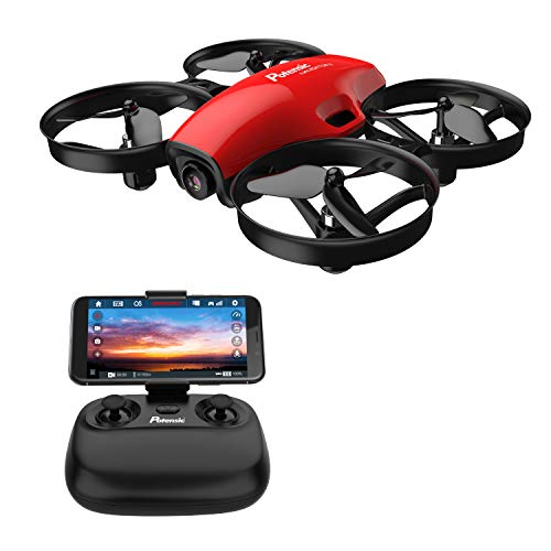 Potensic FPV Drone with Camera WiFi 720P, RC Quadcopter 2.4G 6 Axis-Remote Control with Altitude Hold, Headless, Route Setting, Speed Mode, One-Key Take-Off/Landing,Detachable Battery A30W -Red