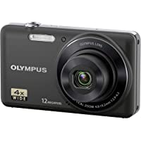 Olympus VG-110  12 MP Digital Camera with 4x Wide Zoom Lens (27mm) and 2.7-Inch LCD (Black) (Old Model)