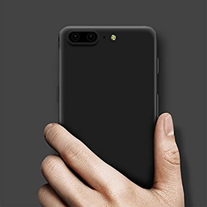 Tarkan Royal Slim Flexible Soft Back Case Cover For OnePlus 5 [Matte Black] 360 Degree Coverage