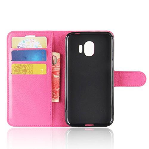 Ocolor Samsung S9 izquierda y derecha caja del teléfono billetera disponible en varios colores (Marrón) Rose Red