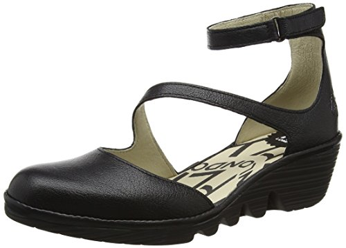Noir Escarpins London Femme Black Plan717 006 FLY wHOZIFxI