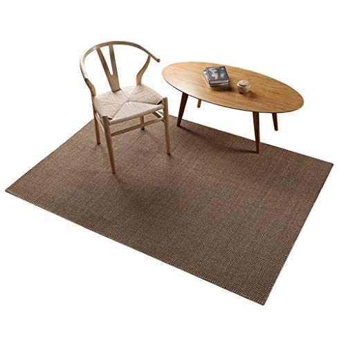 (YJWOZ Rectangular Multi-Size Sisal Carpet Hand-Stitched Balcony Tatami Solid Color Mat Carpet (Size : 100cm×150cm))