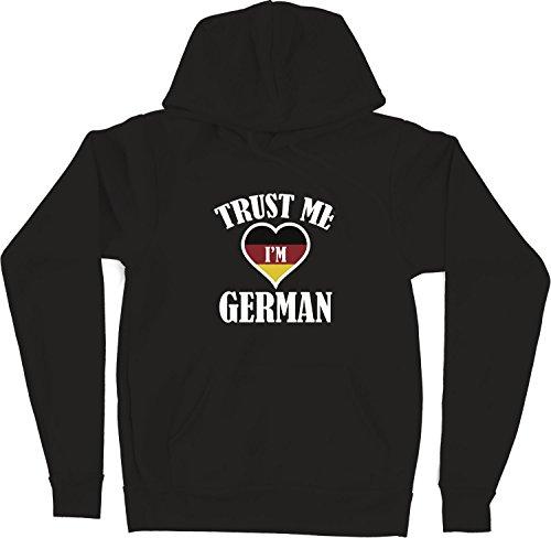 VectorPlanet Trust Me I'm German Unisex Hoodie, Black XL (Trust Me Im German)