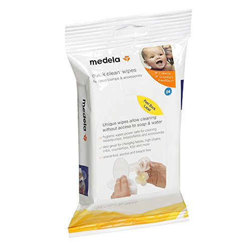 🥇 Medela Quick Clean Breastpump & Accessory Wipes – 24 ct by Medela