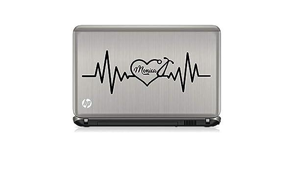 Calcomanía personalizada para estetoscopio con latido de corazón de CELYCASY – Calcomanía de vinilo para estetoscopio médico de enfermería y médico, calcomanía para pared de coche: Amazon.es: Bricolaje y herramientas