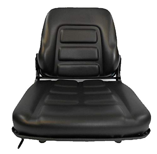 (BLACK FOLD DOWN SEAT FORKLIFT CLARK, CAT, HYSTER, YALE, TOYOTA, CROWN, NISSAN #NP)