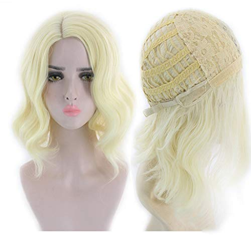 DYHOZZ Wig|Golden Wig Short Fluffy Wigs for Girl Synthetic Role Playing Party Wigs Wig