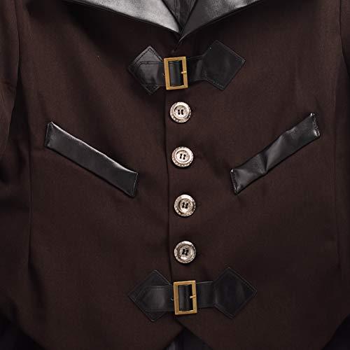 Cosplay Frac Marrone Giacca Steampunk Blessume Vittoriano Halloween Costume Vtg Gotico Coat 8q7ESU