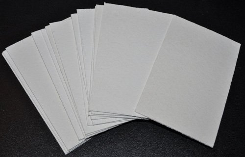 White Compressed Sponge Sheets- Pack of 12 by Sponge Producers