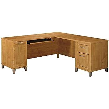 Bush Furniture Somerset 71W L Shaped Desk, Maple Cross