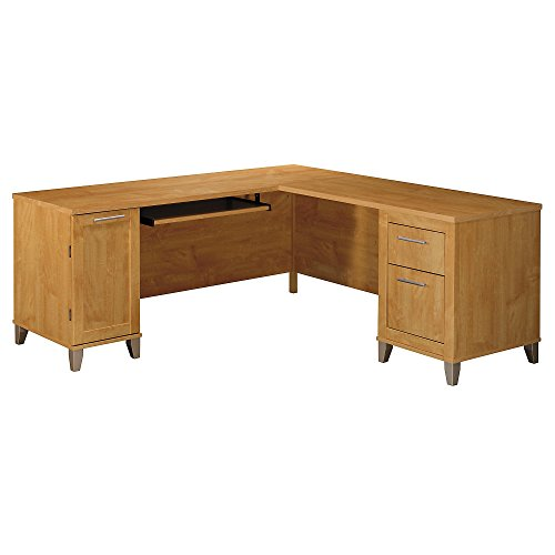 Bush Furniture Somerset 71W L Shaped Desk, Maple - Maple Desk Computer L-shaped