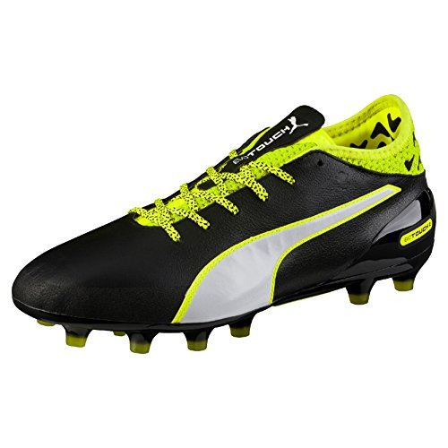 Puma 01 Jaune blanc Football Chaussures 2 noir Ag Evotouch Noires scurit Hommes De Pour aOq7HqE