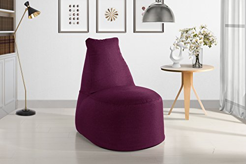 (Large Linen Fabric Living Room Bean Bag Chair for Adults and Children (Pink))