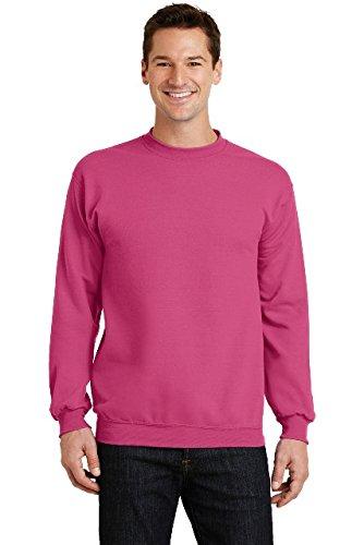Port & Company Core Fleece Crewneck Sweatshirt. PC78 Sangria L