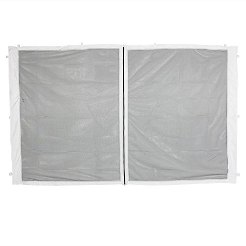 Sunnydaze Decor Zippered Mesh Sidewall for 10x10ft Straight-Leg Canopies, 1 Zippered Panel ()