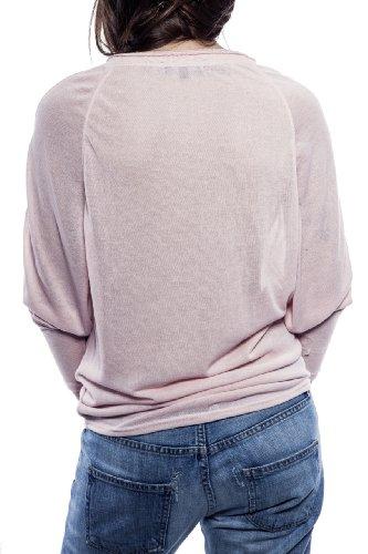 Ella Manue Women Batwing Sleeves Shirt Camiseta para Mujer Adrien Rose