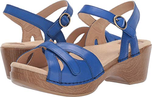 (Dansko Women's Season Sandal, Cobalt Burnished Calf, 38 M EU (7.5-8 US) )