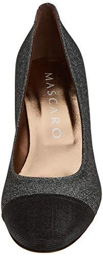 Tacón Galassia Mascaro Punta De Black fumo Cerrada Con Mujer 47827 Zapatos black Negro Para qq1tw7TR