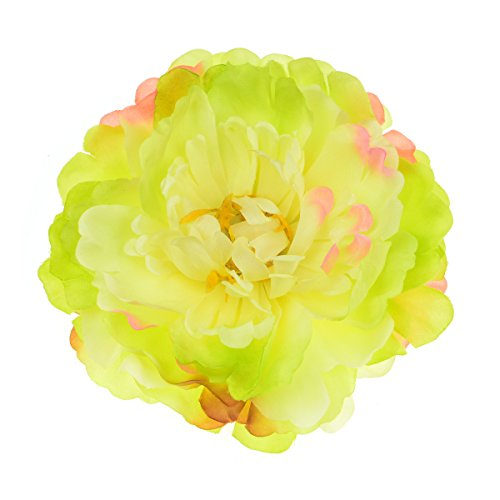 (Floral Fall Peony Hair Clips Bridal Party Evening Headpiece Flamenco Dancer Flower Brooch HC-14)
