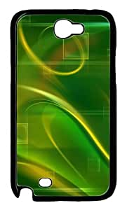 Green Abstract N Polycarbonate Hard Case Cover for Samsung Galaxy Note 2/ Note II/ N7100 Black