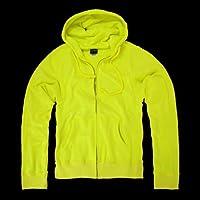 DECKY Neon Basic Zip Up Hoodies, Yellow, Medium