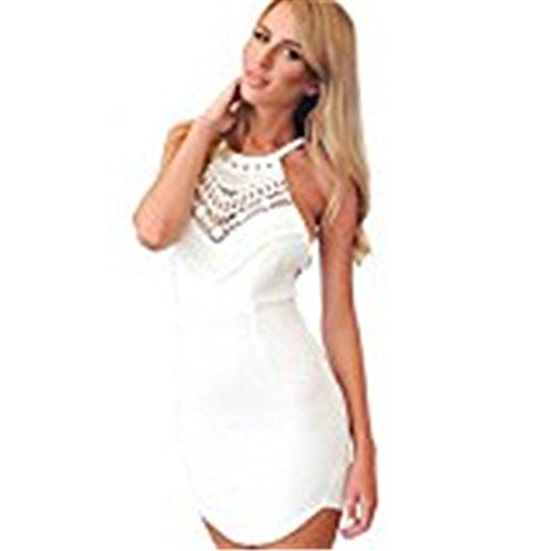 Sannysis Reizvolle Frauen nehmen Sommer Lace Gallus Kreuz Sleeveless Backless Kleid (L)