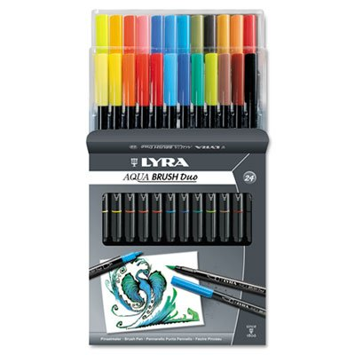 Dual Tip Marker, Assorted, 24 per Pack, Sold as 24 - Dual Marker Tip Lyra