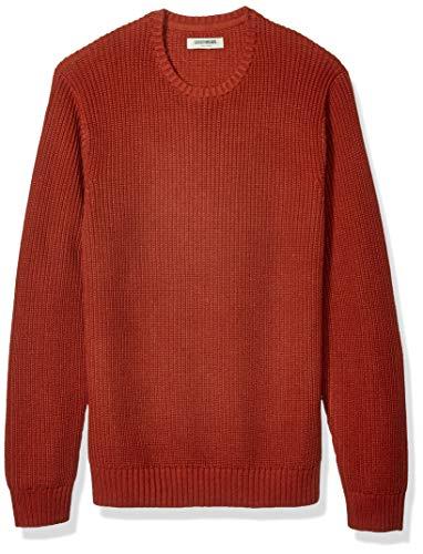 Brand Goodthreads Mens Soft Cotton Rib Stitch Crewneck Long Sleeve Sweatshirt