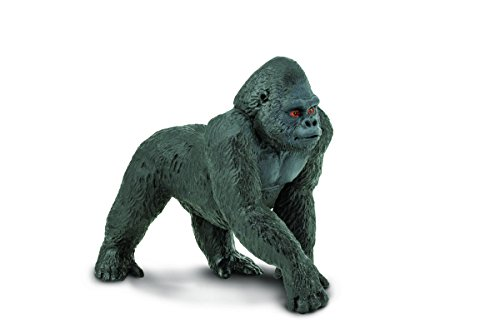 Safari Ltd Wild Safari Wildlife - Lowland Gorilla - Realistic Hand Painted Toy Figurine Model - Quality Construction from Safe and BPA Free Materials - For Ages 3 and Up