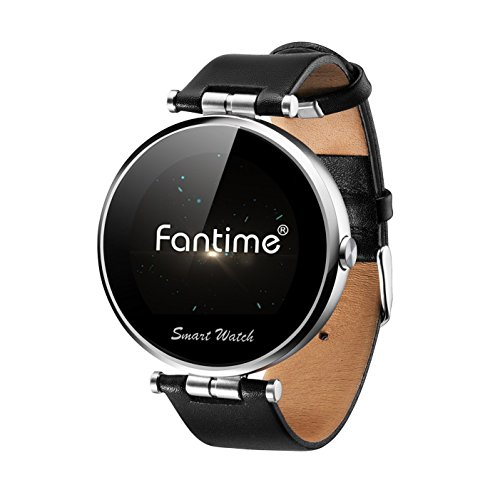 Fantime Round Dial Display Bluetooth Wrist Smart Watch with Voice Gesture Control - Silver