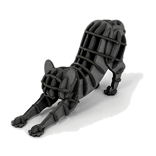 JIGZLE Stretching Cat 3D Paper Puzzle DIY Kit - Laser Cut Miniature ()