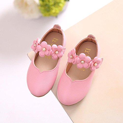Hunpta Kinder Schuhe Mädchen Mode Blume Kind Schuhe solide All Casual Schuhe passen Rosa