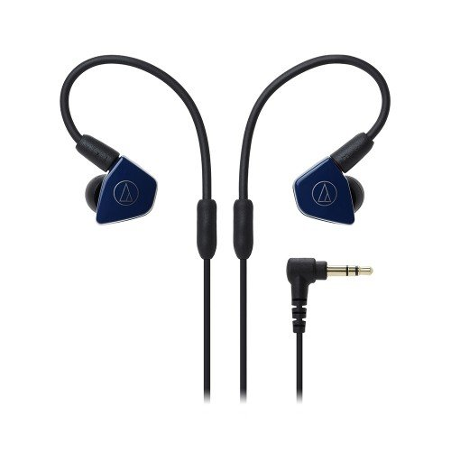 Audio-Technica ATH-LS50iSNV In-Ear Monitor Headphones with In-Line Mic & Control, Navy -  Audio - Technica