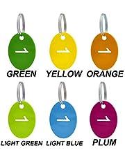 Aspire Lot de 50 étiquettes numérotées avec porte-clés en acrylique pour organiser et trier 51to100 Forme ovale personnalisée.