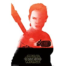 """Trends International RP14354 Star Wars The Force Awakens Rey Badge 22.375"""" x 34"""" Wall Posters"""