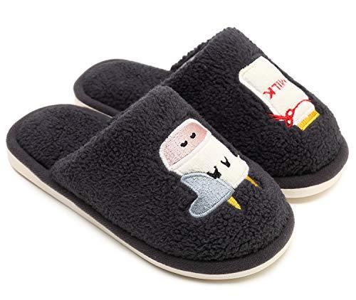 SOSUSHOE Little Kids Slippers, Winter Indoor Outdoor Slipper for Boys and Girls, Childrens Cute Slip-on House Slippers