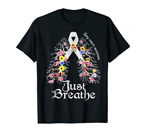 Just Breath Lung Cancer Awareness Classic T-Shirt -